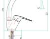 Смеситель для раковины Fiore Aqua 74 CR 4310 Современный / Скандинавский / Модерн