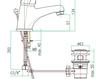 Смеситель для раковины Fiore Aqua 32 CR 2210 Современный / Скандинавский / Модерн