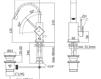 Смеситель для раковины Rubinetteria Paffoni L E V E L LEA 838 Современный / Скандинавский / Модерн