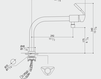 Смеситель для кухни MGS Cucina 0120BO238B BOMA P Современный / Скандинавский / Модерн