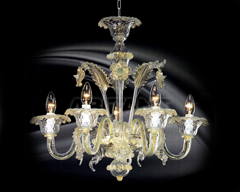 Купить Люстра Cavalliluce di Mirco Cavallin Venice 14L5 Cristallo oro