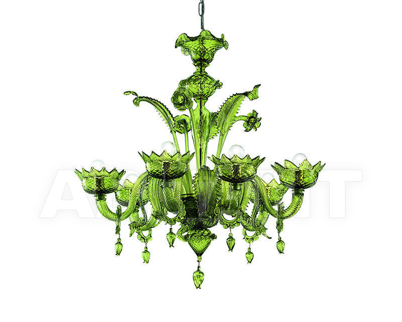 Купить Люстра Lavai lavorazione vetri artistici di Giuliano Statua & C. 2007 208/6 verde