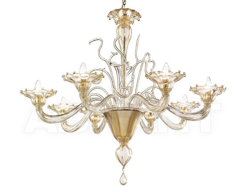 Купить Люстра Lavai lavorazione vetri artistici di Giuliano Statua & C. 2007 776/8R tutto oro