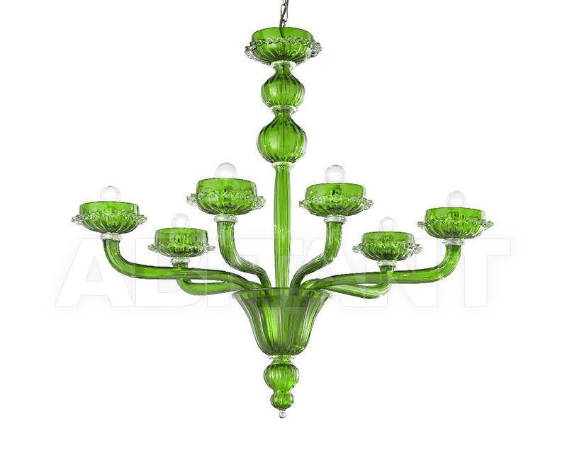 Купить Люстра Lavai lavorazione vetri artistici di Giuliano Statua & C. 2007 783/6 verde trasparente