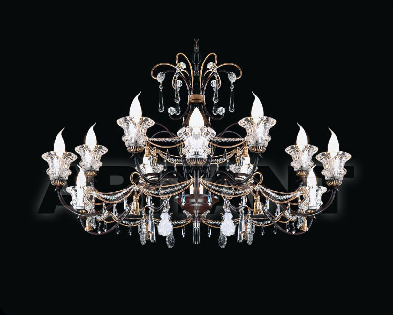 Купить Люстра Renzo del Ventisette & C. S.A.S Legno L 14148/12