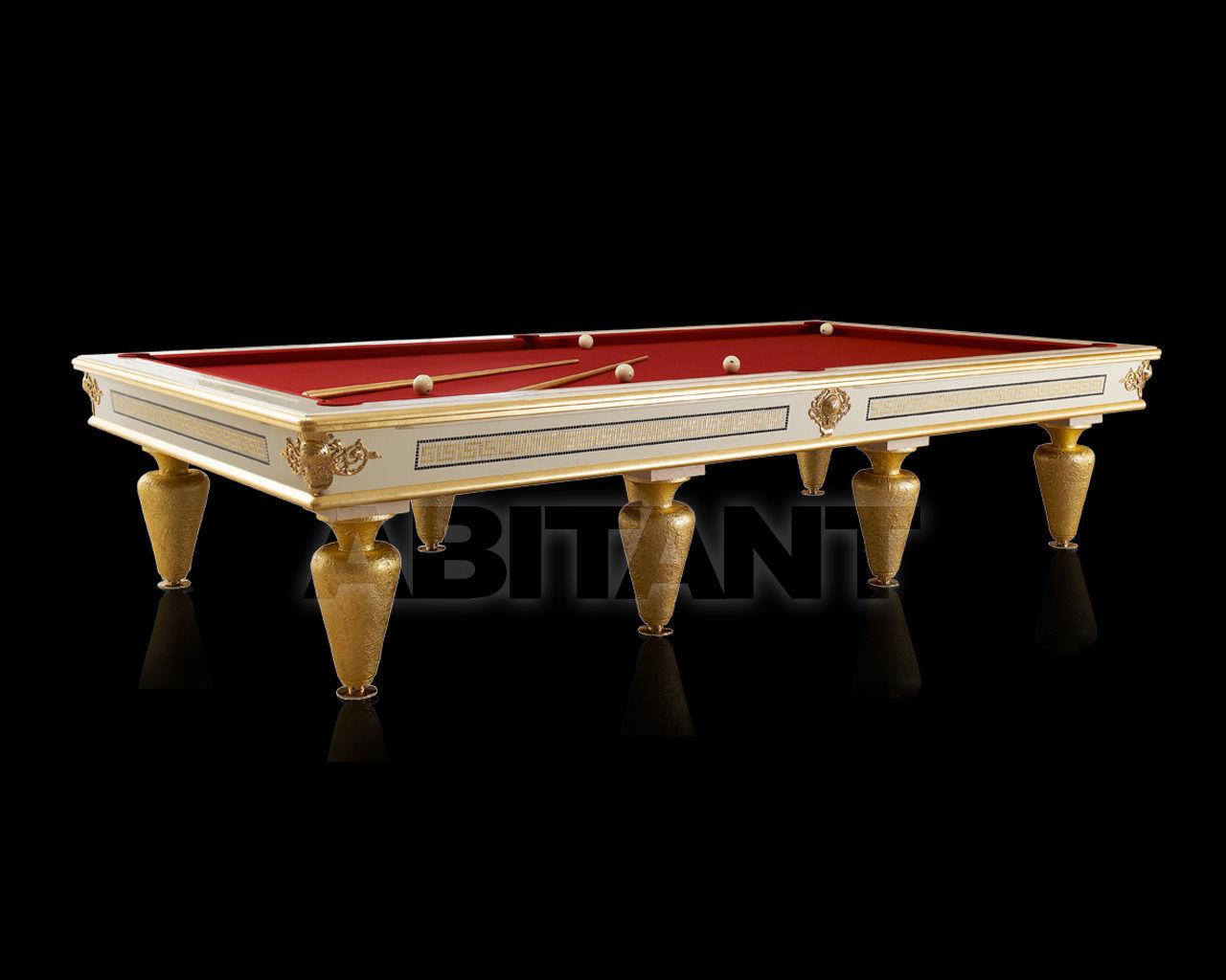 Купить Бильярдный стол Lu.Bo Biliardi Biliardi GIOVE LACCATO BIANCO/ORO