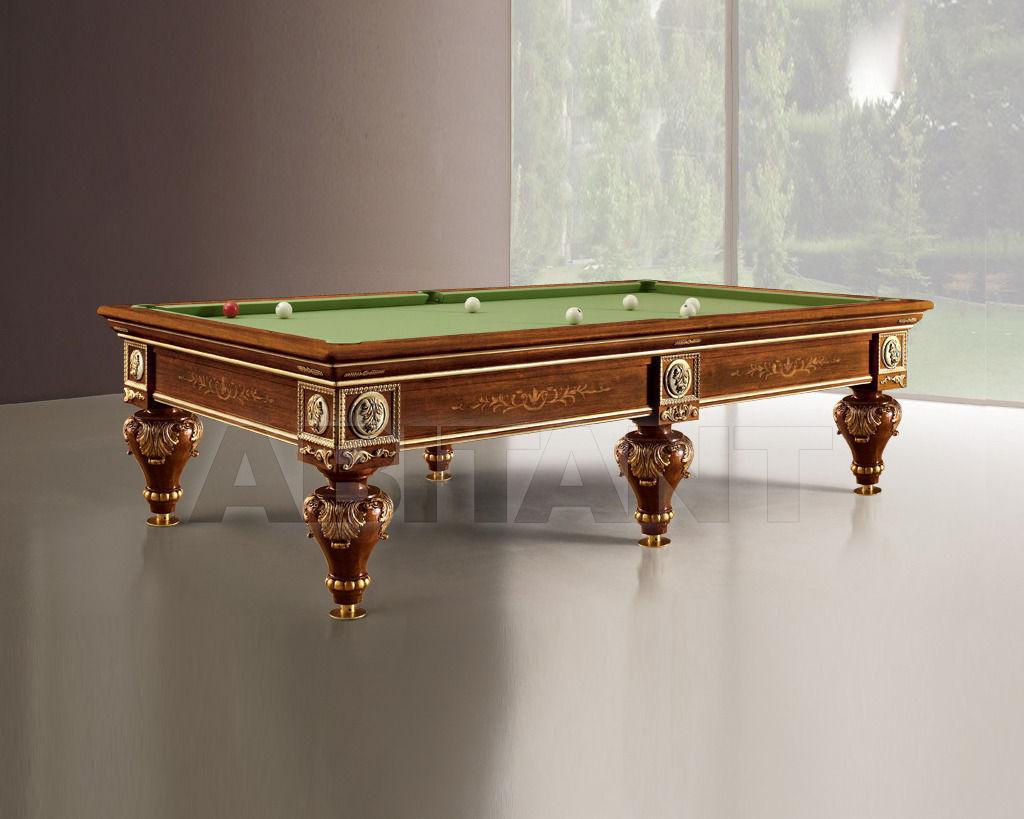Купить Бильярдный стол Lu.Bo Biliardi Biliardi ROMANTICO noce/oro