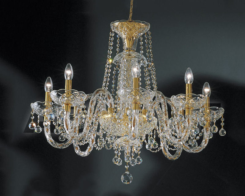 Купить Люстра Asfour Crystal Crystal 2013 CH  504/6 - GOLD (PEND)