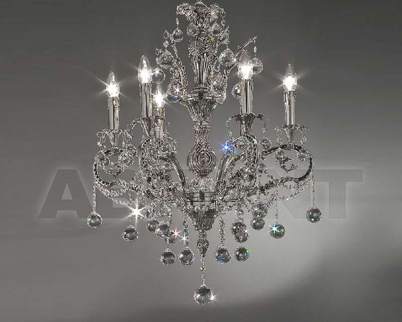 Купить Люстра Asfour Crystal Crystal 2013 CH 15010/6 Chrome Patina Ball
