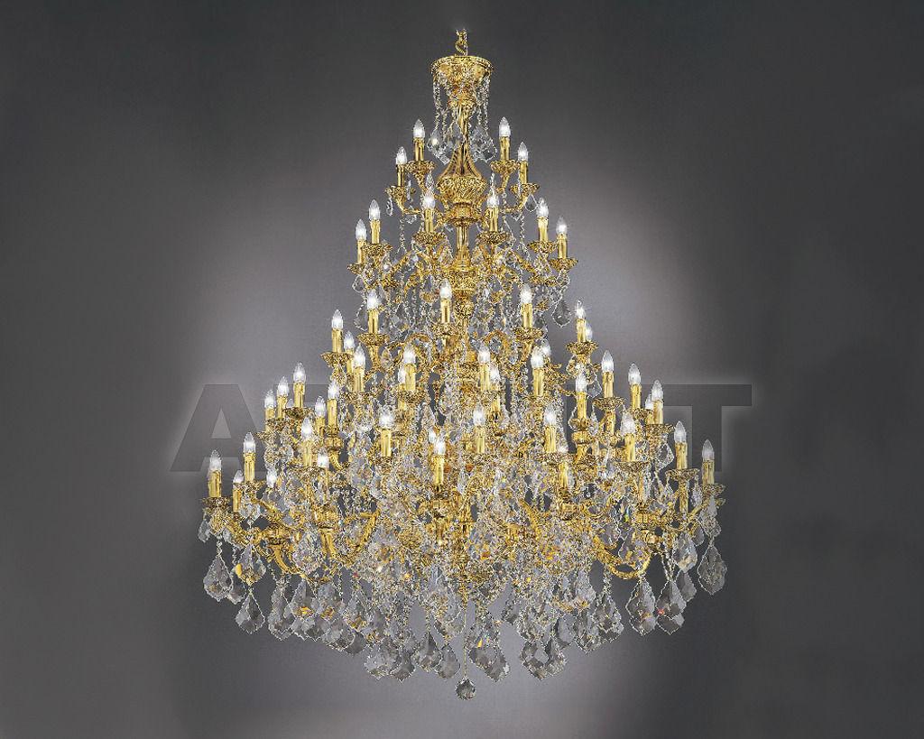 Купить Люстра Asfour Crystal Crystal 2013 CH 168/85 GOLD PATINA PEND 902
