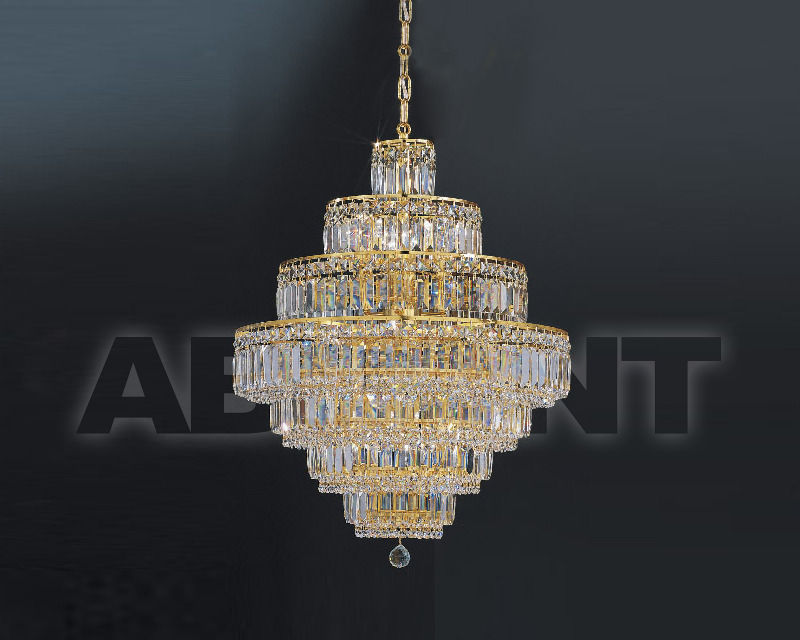 Купить Люстра Asfour Crystal Crystal 2013 CH 2000/40/9 Gold Drop*Square Stons