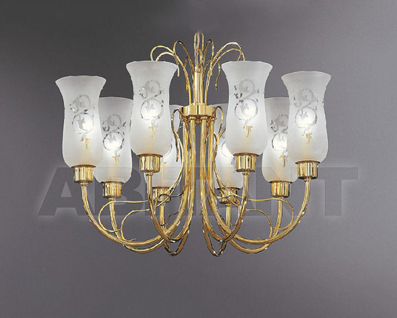 Купить Люстра Asfour Crystal Crystal 2013 CH 2044/8 Gold GLASS SHADE