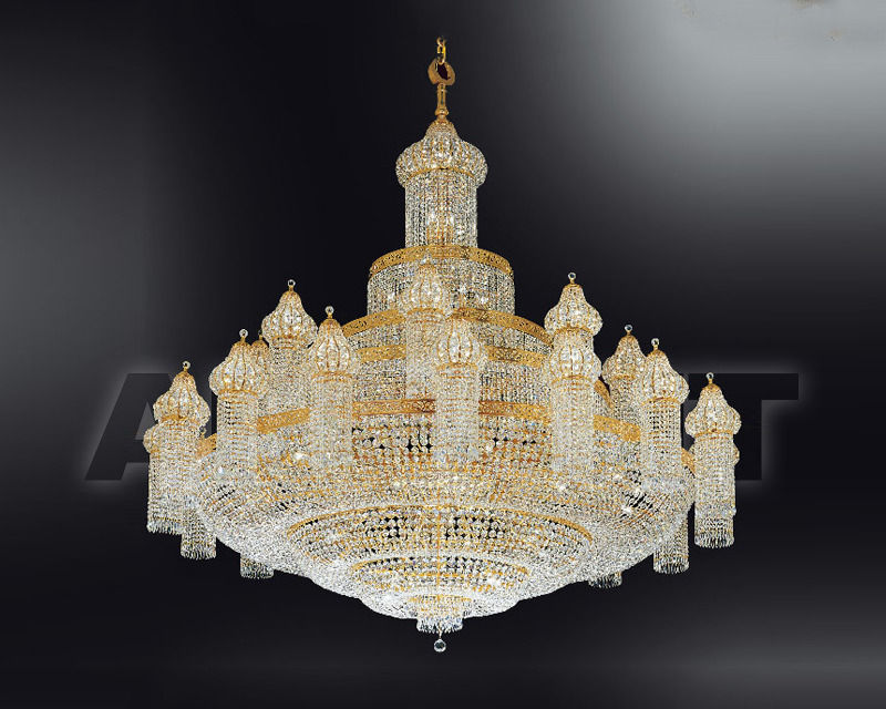 Купить Люстра Asfour Crystal Crystal 2013 CH 24+1 DOME Gold .Octagons1080