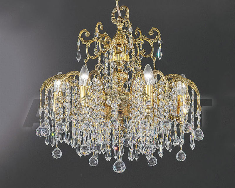 Купить Люстра Asfour Crystal Crystal 2013 CH 598/106/30 Gold Patina.Oct*Ball*Drop