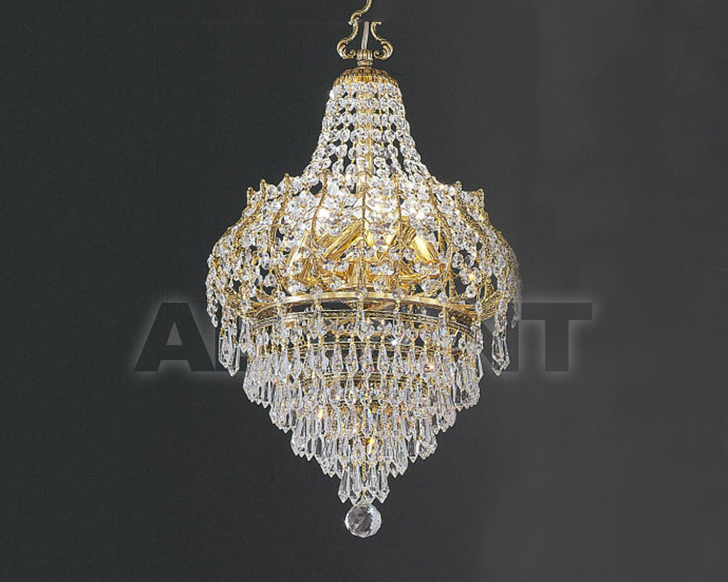 Купить Люстра Asfour Crystal Crystal 2013 LN 831/36/6 Oct*Drop Gold Patina