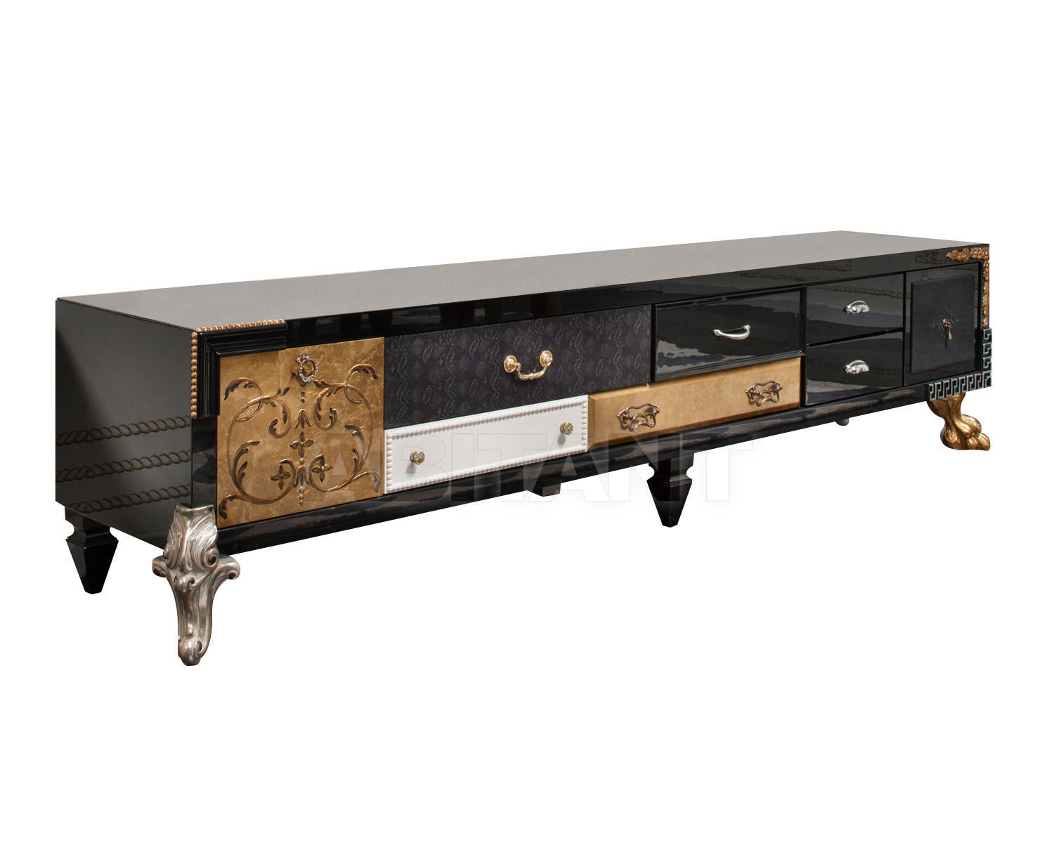 Купить Стойка под аппаратуру Saint Babila by Rivolta New Collection 2011 PATCHWORK MOBILE TV LIVING SIDEBOARD