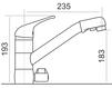 Схема Смеситель для кухни Giulini Cucina MAS 01 Современный / Скандинавский / Модерн