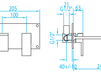 Схема Смеситель для раковины Giulini Plp PLP 030 Современный / Скандинавский / Модерн