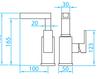 Схема Смеситель для раковины Giulini Plp PLP 046B1 Современный / Скандинавский / Модерн