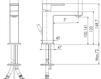 Схема Смеситель для раковины Giulini Pablolux 9833A Современный / Скандинавский / Модерн