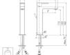 Схема Смеситель для раковины Giulini Pablolux 9839A Современный / Скандинавский / Модерн