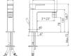 Схема Смеситель для раковины Giulini Pablolux 9835A Современный / Скандинавский / Модерн