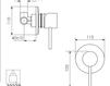 Схема Встраиваемый смеситель Giulini Quack 9115 Современный / Скандинавский / Модерн