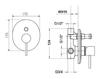 Схема Встраиваемый смеситель Giulini Quack 9113 Современный / Скандинавский / Модерн