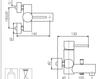 Схема Смеситель настенный Giulini Futuro 6501 Современный / Скандинавский / Модерн