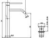 Схема Смеситель для раковины Giulini Futuro 6596/U Современный / Скандинавский / Модерн