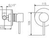 Схема Душевая система Giulini Futuro 6515WC Современный / Скандинавский / Модерн