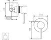 Схема Встраиваемый смеситель Giulini Futuro 6515 Современный / Скандинавский / Модерн