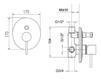 Схема Встраиваемый смеситель Giulini Futuro 6513 Современный / Скандинавский / Модерн