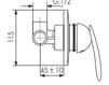 Схема Встраиваемый смеситель Giulini Kometa 8415 Современный / Скандинавский / Модерн