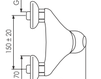 Схема Смеситель настенный Giulini Kometa 8408WD Современный / Скандинавский / Модерн