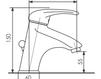 Схема Смеситель для раковины Giulini Infinito 8505A Современный / Скандинавский / Модерн