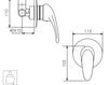 Схема Встраиваемый смеситель Giulini Infinito 8515 Современный / Скандинавский / Модерн