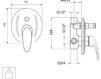 Схема Встраиваемый смеситель Giulini Infinito 8511 Современный / Скандинавский / Модерн