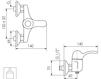 Схема Смеситель настенный Giulini Roma 2608 Современный / Скандинавский / Модерн