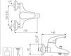 Схема Смеситель настенный Giulini Kelly 2501 Современный / Скандинавский / Модерн