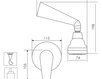 Схема Душевая система Giulini Kelly 2515WB Современный / Скандинавский / Модерн