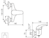 Схема Смеситель настенный Giulini Kelly 2508WD Современный / Скандинавский / Модерн