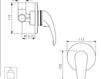 Схема Встраиваемый смеситель Giulini Giada 2215 Современный / Скандинавский / Модерн