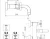 Схема Смеситель настенный Giulini G3 7601 Современный / Скандинавский / Модерн