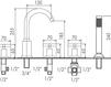 Схема Смеситель для ванны Giulini G3 7660 Современный / Скандинавский / Модерн