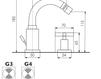 Схема Смеситель для биде Giulini G3 7645A Современный / Скандинавский / Модерн