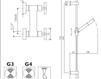 Схема Смеситель настенный Giulini G3 7607WS Современный / Скандинавский / Модерн