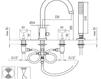 Схема Смеситель для ванны Giulini G5 7965 Современный / Скандинавский / Модерн