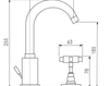 Схема Смеситель для раковины Giulini G5 7912A Современный / Скандинавский / Модерн