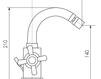 Схема Смеситель для биде Giulini G5 7959A Современный / Скандинавский / Модерн